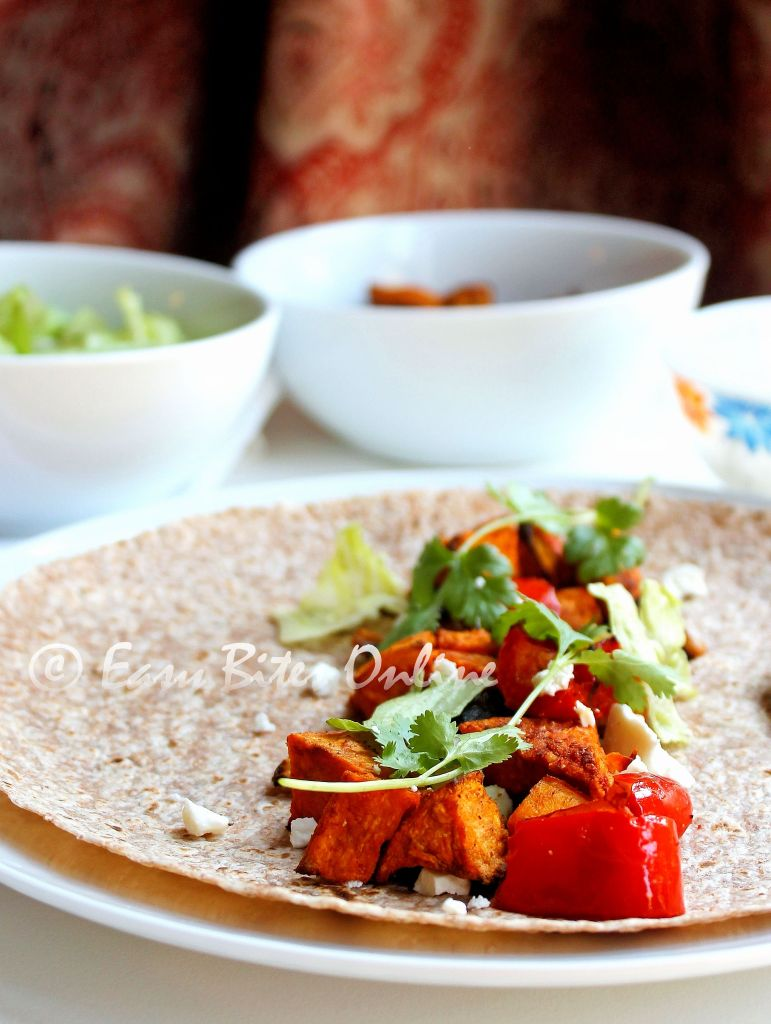 curried sweet potato fajitas