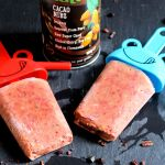 Plum Avocado Popsicle With Creative Nature Cacao Nibs