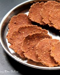 Baked Roasted Red Rice Flour Nippattu With Oats