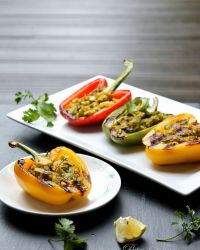 Grilled Veg Stuffed Peppers