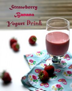 Strawberry Banana Yogurt Drink