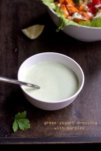 Greek Yogurt Dressing With Parsley