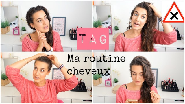 photo routine cheveux