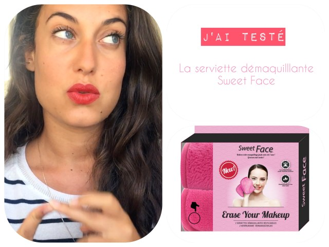 test serviette sweet face