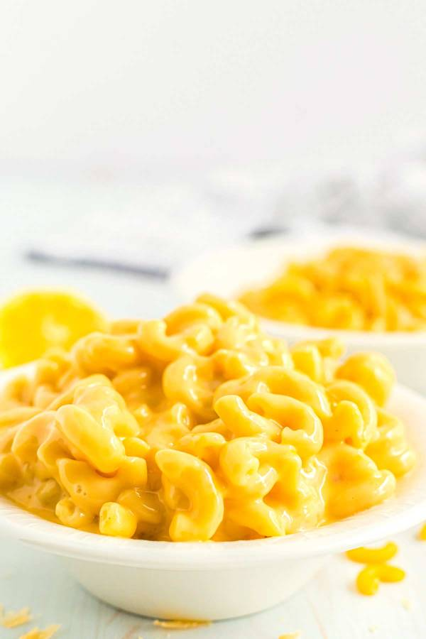 3 Cheese Mac and Cheese in a serving bowl.