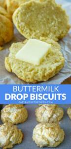Picture collage of the biscuits for Pinterest.