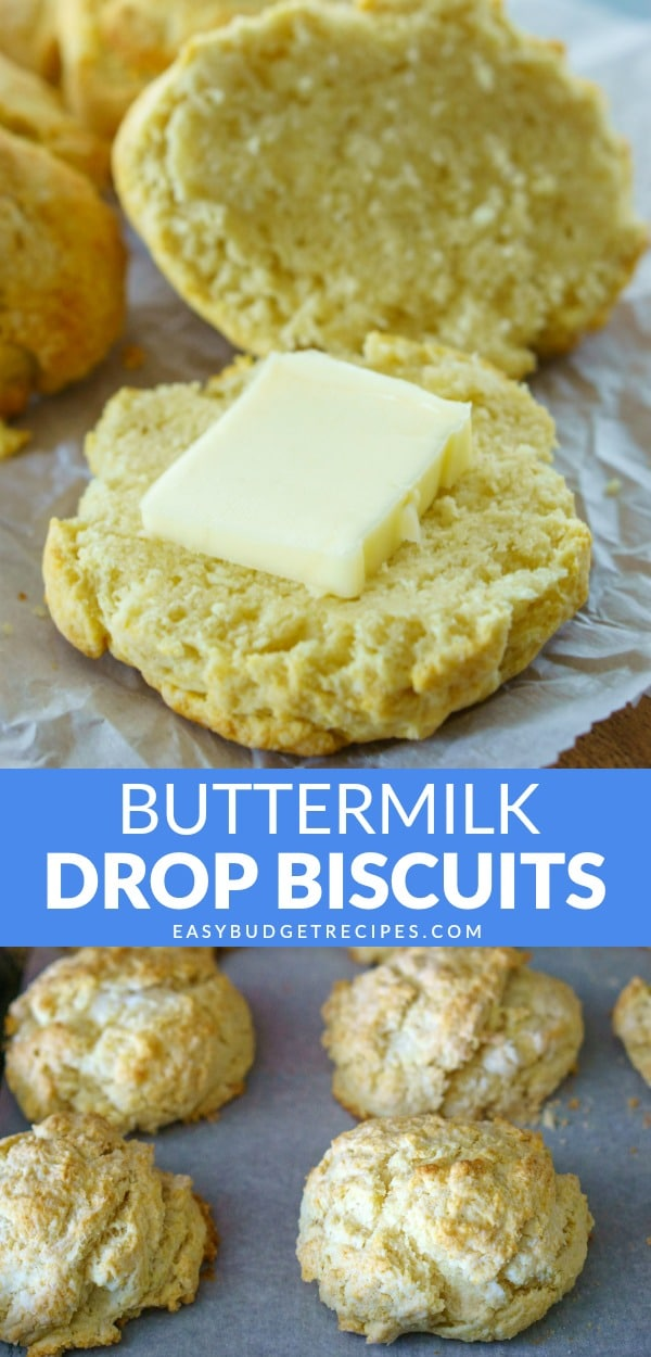 These Buttermilk Biscuits are incredibly easy to make and they taste SO good! It costs just $2.80 to make 12, that's only 24 cents per biscuit! via @easybudgetrecipes