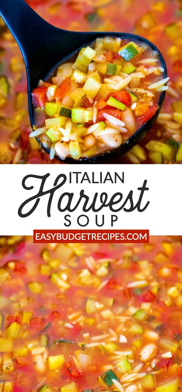 A picture collage of Italian Soup for Pinterest.