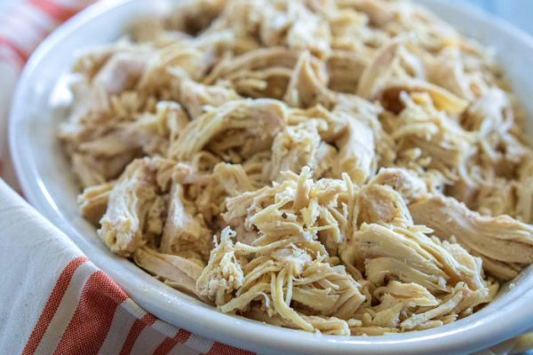 Shredded chicken made in the Instant Pot.