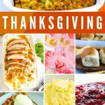 Picture collage of Thanksgiving recipes for Pinterest.