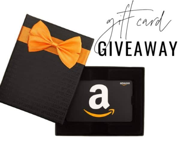 Giveaway image with text overlay for social media.