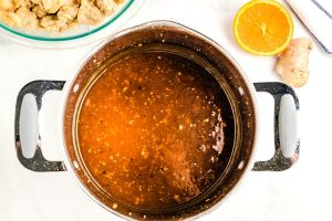Cook the sauce until thickened to the consistency of syrup.