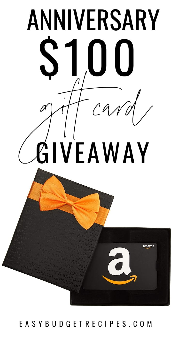 Enter to win our$100 Amazon Gift Card Giveaway. Enter between September 3-13, 2020. This giveaway is open to US and Canadian residents. via @easybudgetrecipes