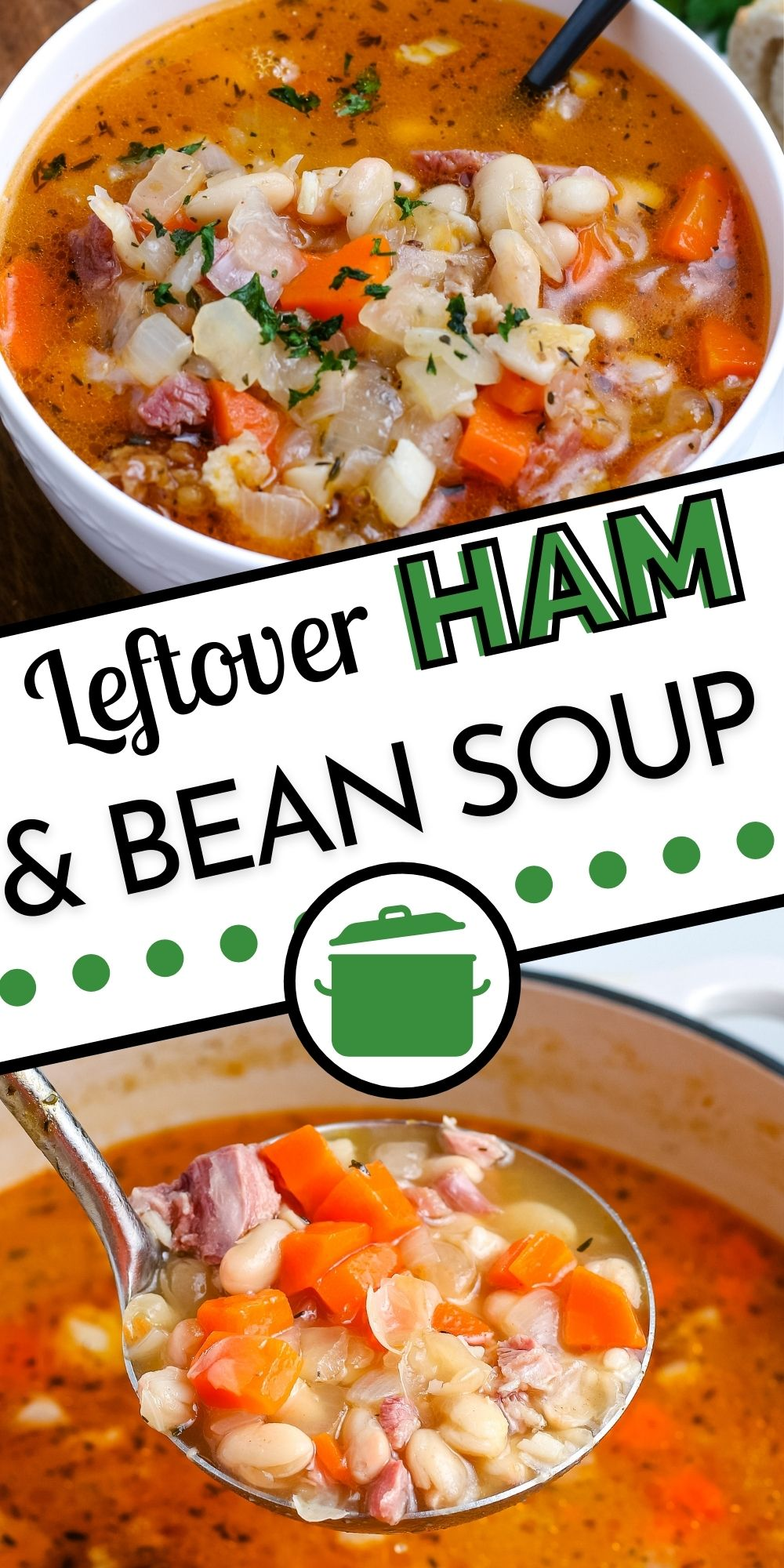 This Leftover Ham and Bean Soupis an economical recipe that makes use of a ham bone. This ham bone soup is easy to make and incredibly flavorful. via @easybudgetrecipes