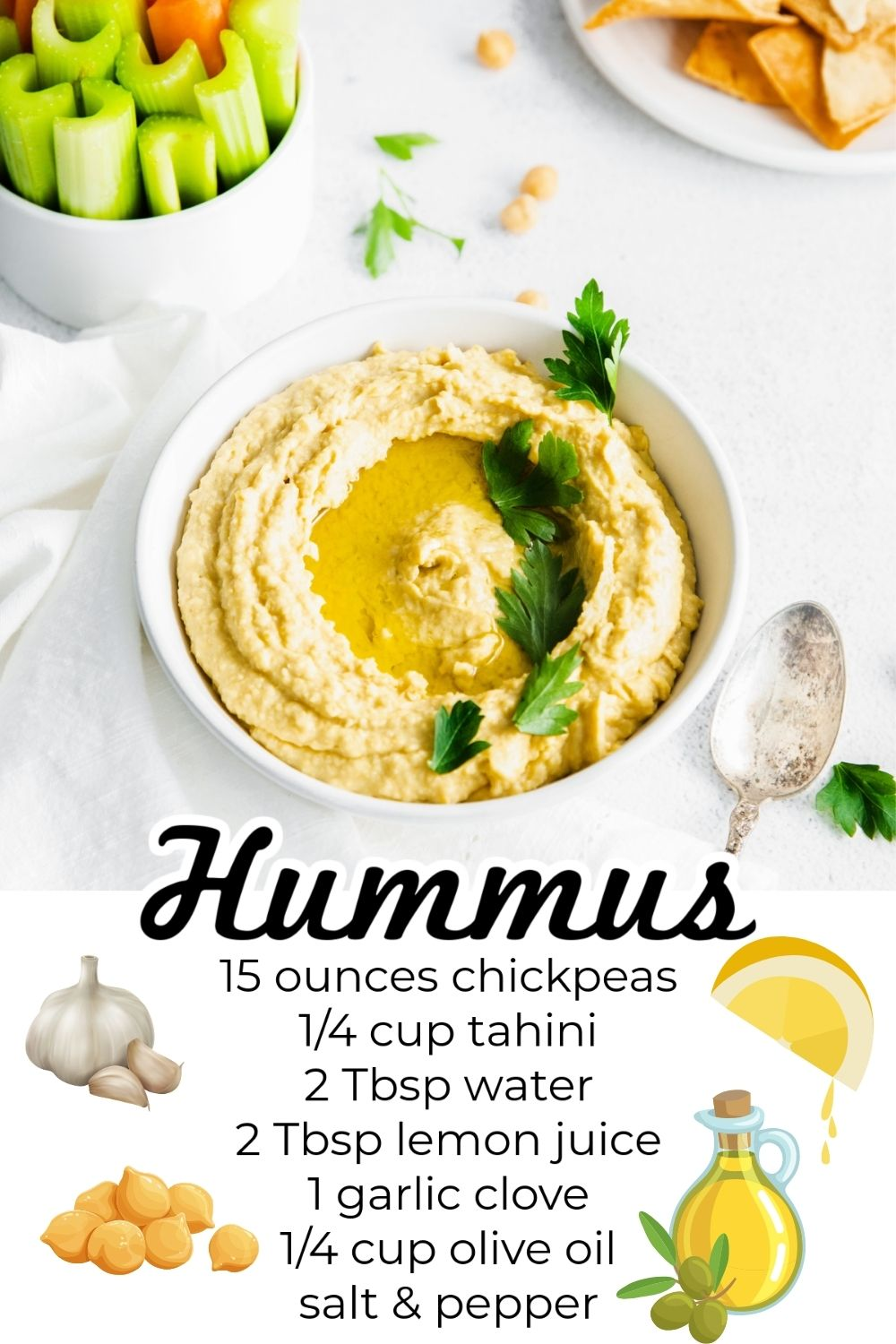 This easy hummus recipe takes just 5 minutes to make in a food processor or high-powered blender. It's a classic snack that is irresistibly smooth and creamy. via @easybudgetrecipes