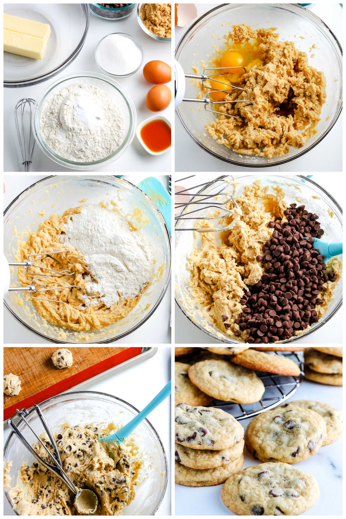 A picture collage of how to make these cookies.