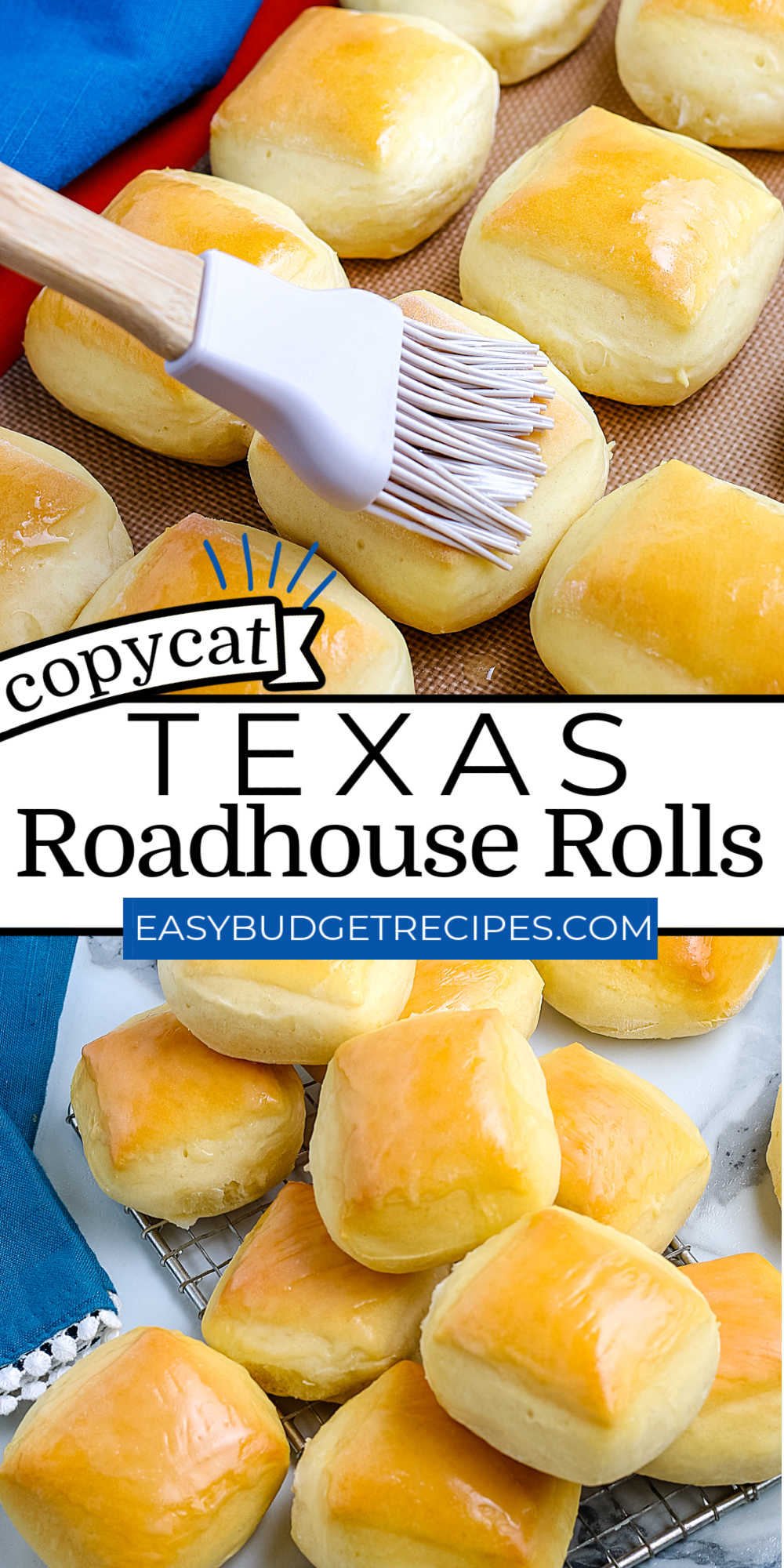 These Copycat Texas Roadhouse Rolls are fluffy and golden brown perfection. They're great for weeknight dinners or special occasions like Thanksgiving and Christmas. via @easybudgetrecipes