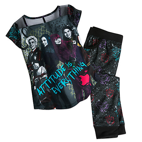 Disney Descendants 2 pajamas for girls comes in sizes 4 through 9/10.