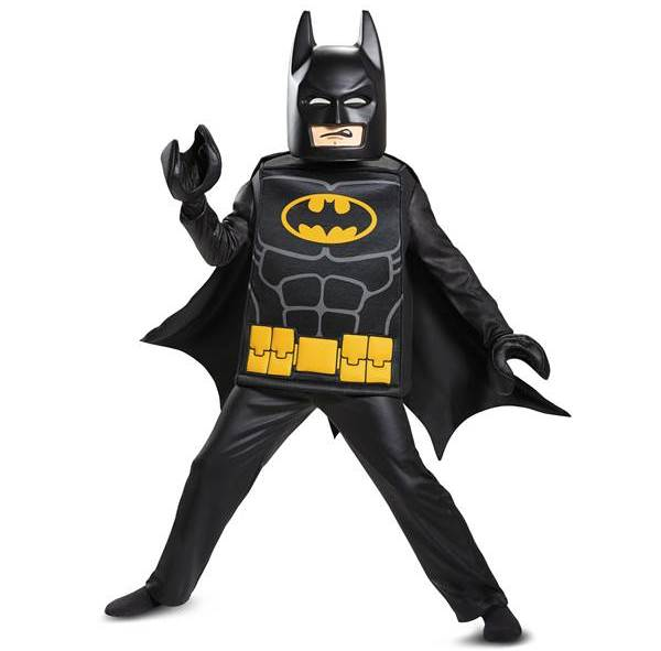 Batman LEGO Movie costume for kids comes in many sizes