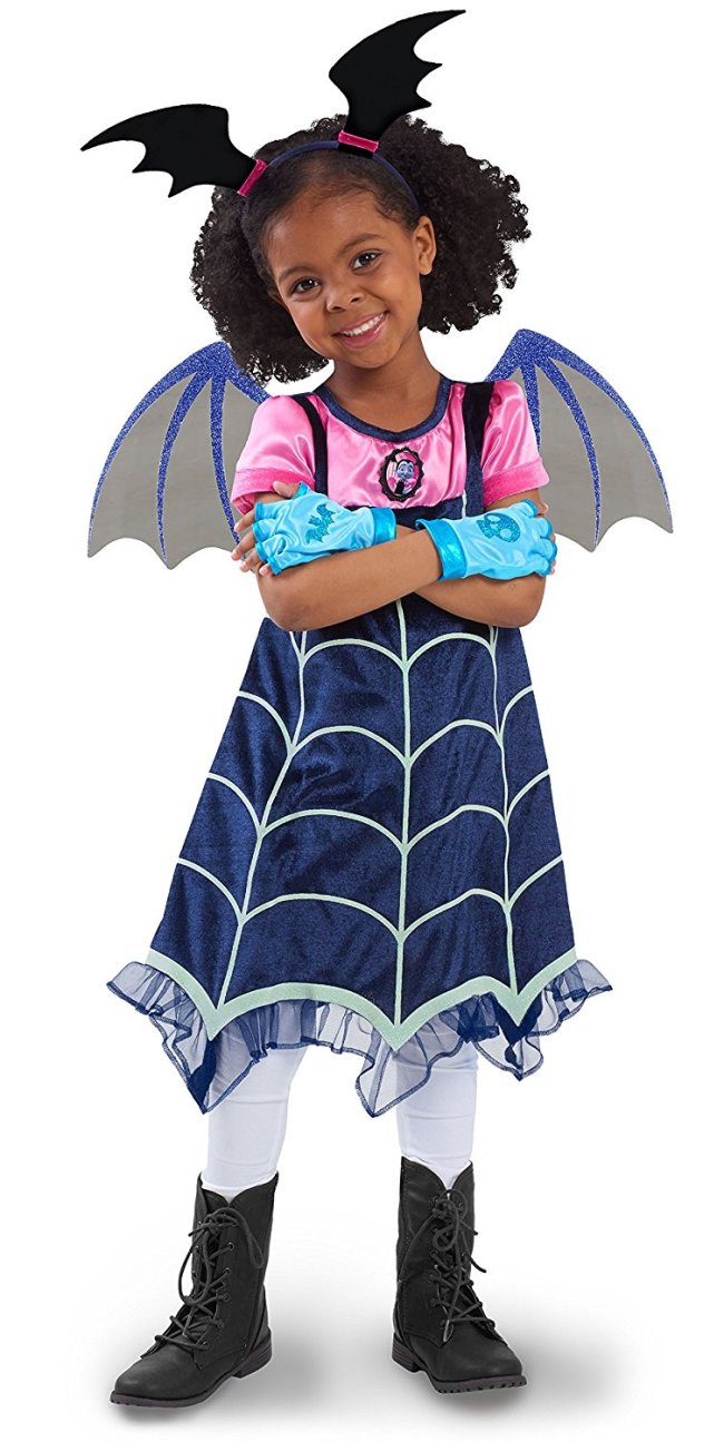 Brand new for Halloween 2017 is this Vampirina Halloween costume for girls, based on the DIsney Junior show.
