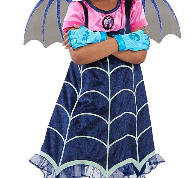 Brand new for Halloween 2017 is this Vampirina Halloween costume for girls, based on the DIsney Junior show.