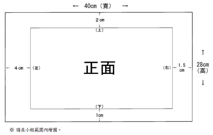 圖一 木製框架之紙張尺寸
