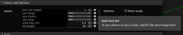 Bollinger Percent B %b upper settings tool tips
