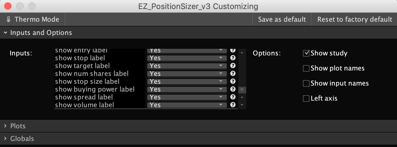 Position Sizer for ThinkOrSwim