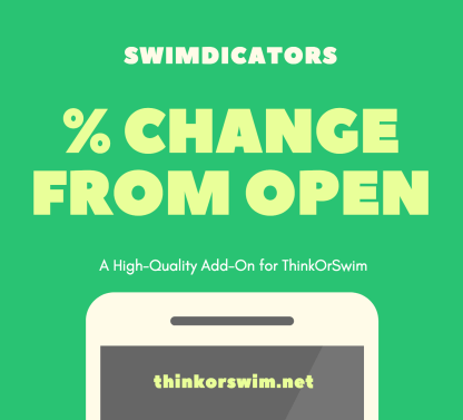 Percent change from open scan watchlist column for thinkorswim front