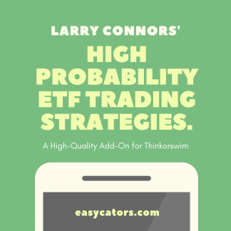 thinkorswim larry connors high probability ETF trading strategies set