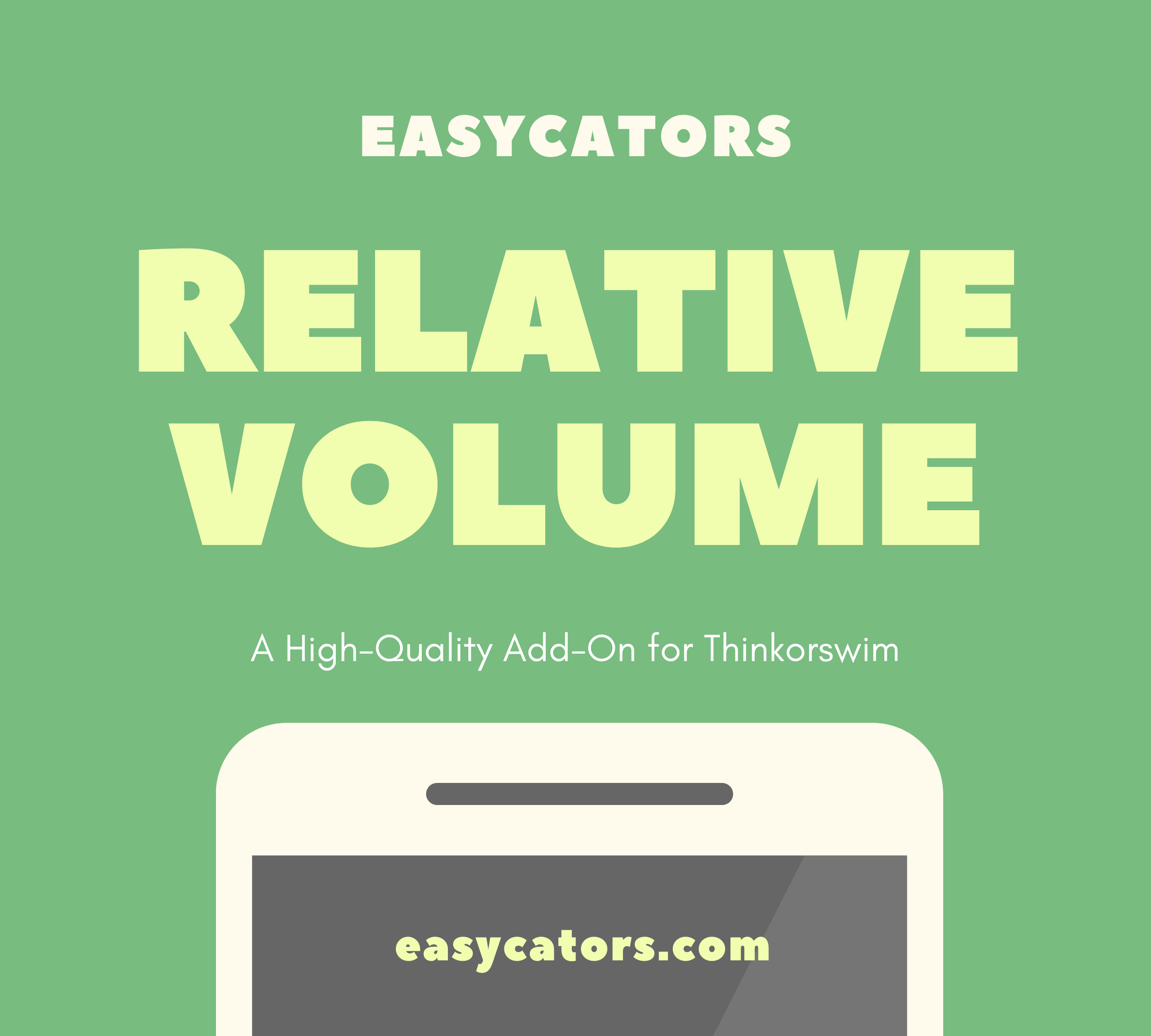 Relative Volume Indicator for ThinkOrSwim