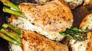 Cheesy Asparagus Stuffed Chicken Breast Recipe