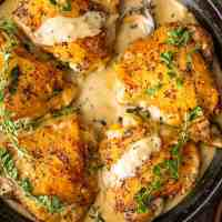 Chicken in White Wine Sauce (Creamy Chicken Dijon)