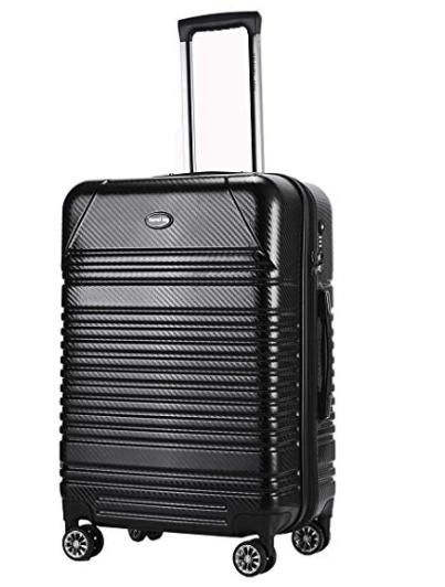 Amazon: $29.99 – Expandable Carry On Luggage Premium Carbon Fiber Suitcase 20inches
