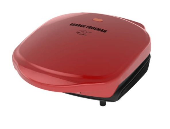 Walmart: George Foreman 2-Serving Classic Plate Electric Indoor Grill and Panini Press, Red, GR10RM – $13.99