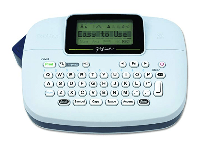 Amazon: Brother P-touch, PTM95, Handy Label Maker, 9 Type Styles, 8 Deco Mode Patterns, White – $9.99