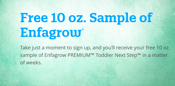 Free Sample of Enfagrow