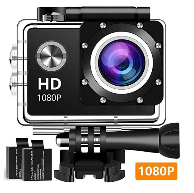 Amazon: Action Camera Sport Camera 1080P Full HD Waterproof Underwater Camera – $15