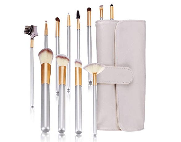 Amazon: Makeup Brushes Set 12 PCS Premium Makeup Brush Synthetic Cosmetics Professional Handle Brush Set with Tote Bag – $5.59