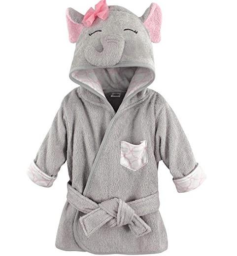 Amazon: Hudson Baby Animal Face Hooded Bathrobe, Pretty Elephant, 0-9 Months – $6