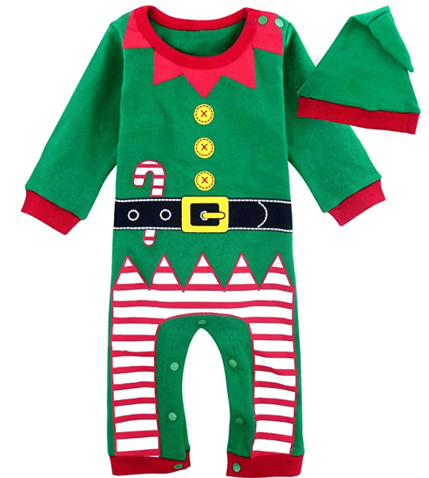 Amazon: COSLAND Baby Boys' 2PCS Christmas Romper Costume Outfit Set with Hat – $10.31
