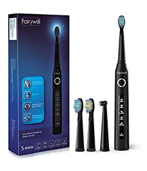 Amazon: Electric Toothbrush with three brush heads – $9.49