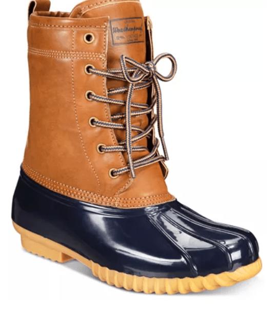 Macy's: The Original Duck Boot Ariel Booties – $19.99