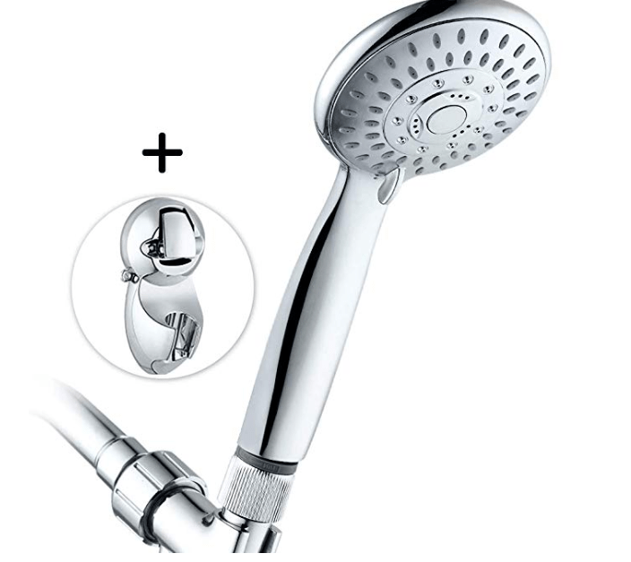 Amazon: 5 Settings Shower Head with Adjustable Height Suction Cup Bracket – $8.45