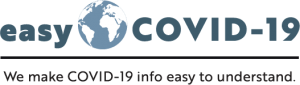 EasyCOVID-19 Logo. We make COVID-19 info easy to understand.