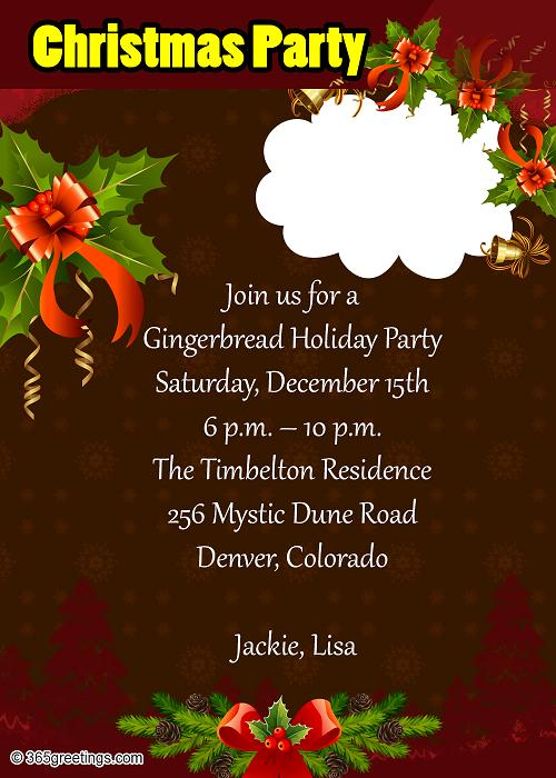 Office Christmas Party Invitation Wording Image Collections