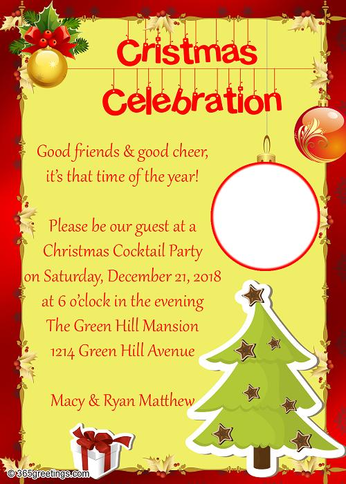 christmas party invitation letter wording Cogimbous