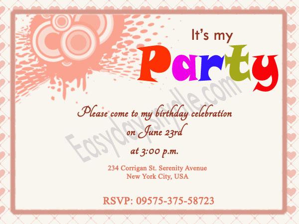 birthday invitation wording easyday