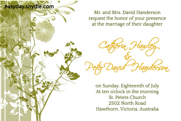 Wedding Invitation Messages Through Email Invitations