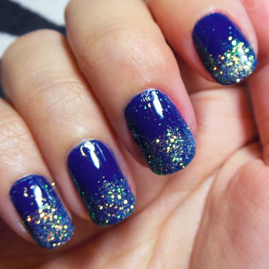 Blue Nail Design 2
